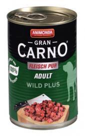 ANIMONDA GranCarno Adult Wild Plus konzerv kutyáknak 400 g, 800 g