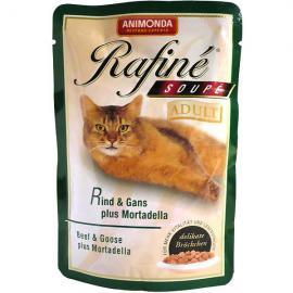 ANIMONDA Rafiné Soupé Adult Rind & Gans plus Mortadella 100 g tasakos eledel felnőtt cicáknak