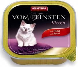 ANIMONDA VOM FEINSTEIN KITTEN Rind konzerv kölyök cicáknak marhahússal, 100 g tálcás