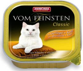 ANIMONDA VOM FEINSTEN CLASSIC Geflügel+Kalb konzerv cicáknak szárnyas-, és borjúhússal, 100 g
