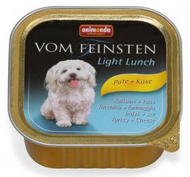 ANIMONDA VOM FEINSTEN LIGHT LUNCH Pute + Käse konzerv kutyáknak pulykahússal és sajttal, 150 g