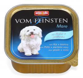 ANIMONDA VOM FEINSTEN MARE mit Huhn + Seelachs konzerv kutyáknak csirkehússal és fekete tőkehallal, 150 g