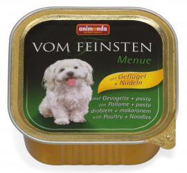 ANIMONDA VOM FEINSTEN MENUE Geflügel + Nudeln konzerv kutyáknak szárnyashússal és tésztával, 150 g