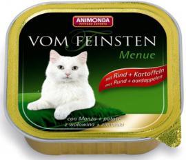 ANIMONDA VOM FEINSTEN MENUE Rind + Kartoffeln konzerv cicáknak marhahússal és burgonyával, 100 g