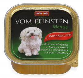 ANIMONDA VOM FEINSTEN MENUE Rind + Kartoffeln konzerv kutyáknak, marhahússal és burgonyával, 150 g
