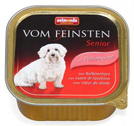 ANIMONDA VOM FEINSTEN SENIOR Putenherzen konzerv idős kutyáknak pulykaszívvel, 150 g
