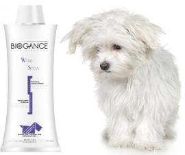Biogance White Snow Shampoo - Sampon fehér, illetve világos szőrű kutyák és macskák részére 4 féle kiszerelésben