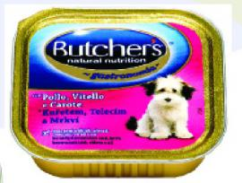 BUTCHER'S alutálkás eledel Csirke / Borjú / Répa ízben kutyáknak 150 gr-os