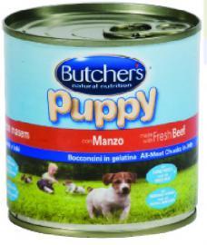 BUTCHER'S konzerv Puppy Marha kölyök kutyáknak 400 g-os