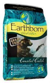 Earthborn Holistic Coastal Catch gabonamentes teljesértékű száraztáp felnőtt kutyák számára két féle kiszerelésben