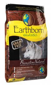 Earthborn Holistic Primitive Natural gabonamentes teljesértékű száraztáp felnőtt kutyák számára két féle kiszerelésben