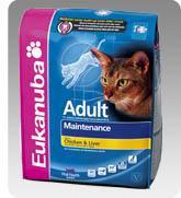 Eukanuba Cat Adult Chicken & Liver száraz táp csirkhússal és májjal felnőtt cicáknak