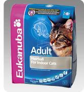 Eukanuba Cat Adult Hairball száraz táp szőroldóval felnőtt cicáknak