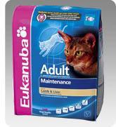 Eukanuba Cat Adult Lamb & Liver száraz táp bárányhússal és májjal felnőtt cicáknak