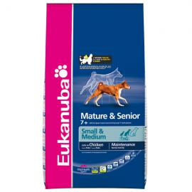 Eukanuba Mature & Senior Small & Medium Breed száraz táp kis-, és közepes termetű középkorú és idős kutyáknak