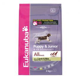 Eukanuba Puppy & Junior Lamb & Rice száraz táp bárányhússal kölyök kutyáknak