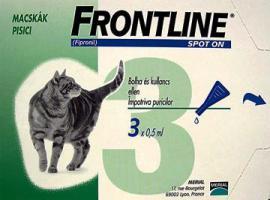 Frontline Spot-on antiparazita oldat bolha és tetű ellen 1 hónapos védettséggel macskák részére 1 pipetta