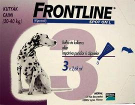 Frontline Spot-on L (20-40 kg) antiprazita oldat bolha és tetű ellen 1 hónapos védettséggel kutyák részére 1 pipetta