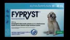 Fypryst 'L' antiparazita oldat bolha, kullancs és szőrtetvesség ellen 1 hónapos védettséggel 2-10 kg közötti kistesű kutyák részére