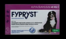 Fypryst 'XL' antiparazita oldat bolha, kullancs és szőrtetvesség ellen 1 hónapos védettséggel 2-10 kg közötti kistesű kutyák részére