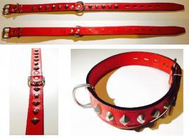 Giglioli Nyakörv bör, szegecselt, kívül-belül piros, 45-60 cm-es nyakméretig, 3.880 Ft helyett 1.940 Ft
