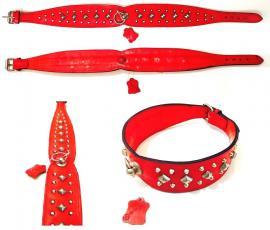 Giglioli Nyakörv bör, szegecselt, kívül-belül piros, 55-60 cm-es nyakméretig, 7.776 Ft helyett 3.900 Ft