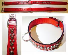 Giglioli Nyakörv bör, szegecselt, kívül-belül piros, 65-75 cm-es nyakméretig, 6.744 Ft helyett 3.500 Ft