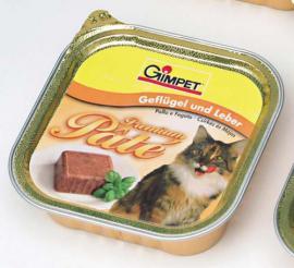 Gimpet Premium Pâté Geflügel & Leber, csirkés és májas pástétom 100 g-os
