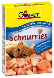 Gimpet  Schnurries lazacos-taurinos vitamin szivecske 85 db-os