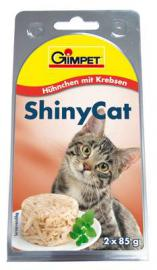 Gimpet Shiny Cat Hühnchen mit Krebsen, tyúkhús és rák zselatinban 85 g