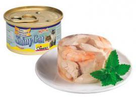 Gimpet ShinyCat csirkehús és garnélarák zselatinban 85 g-os