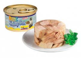 Gimpet ShinyCat csirkehús és tonhal zselatinban 85 g-os