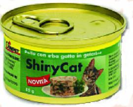 GIMPET Shinycat Csirkével / Macskafűvel  zselében 85 gr-os