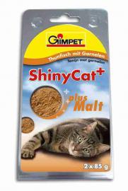 Gimpet ShinyCat Thunfisch mit Garnelen + Malt, garnélarák, tonhal és maláta 85g