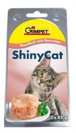 Gimpet ShinyCat Thunfisch mit Garnelen, tonhal és rák zselatinban 85 g