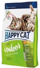 Happy Cat Adult Indoor Weide-Lamm - Bárány teljesértékű szárazeledel lakásban tartott, alacsonyabb energiaszükségletű felnőtt macskáknak