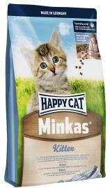 HAPPY CAT MINKAS KITTEN Baromfihúsos teljes értékű eledel kölyökmacskák számára, taurinnal.