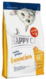 HAPPY CAT Sensitive Kaninchen száraz eledel érzékeny cicáknak nyúlhússal és marhahússal, gabona és gluténmentes burgonyával