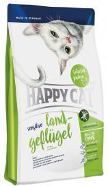 HAPPY CAT Sensitive Land Geflügel száraz eledel érzékeny cicáknak bio szárnyashússal, gluténmentes banánnal és almával