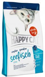 HAPPY CAT Sensitive Seefisch száraz eledel érzékeny cicáknak tengeri halhússal, gluténmentes banánnal és fügével