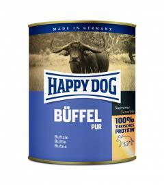 HAPPY DOG Büffel Pur 100 % bivalyhús konzerv, táplálék allergiás kutyáknak, 200 g, 400 g, 800 g