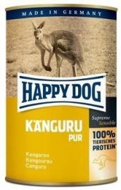 HAPPY DOG Kanguru Pur Kenguru kiegészítő konzerv kutyáknak - egyféle fehérjeforrással - 100 % kenguru, 400 g