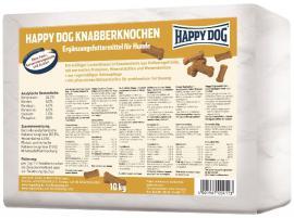 HAPPY DOG Knabberknochen kemény csont alakúra sütött kutyakeksz az fogtisztításhoz és a problémamentes emésztéshez