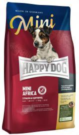 HAPPY DOG MINI Africa strucchúsos száraz eledel válogatós és táplálék allergiás kistestű felnőtt kutyáknak