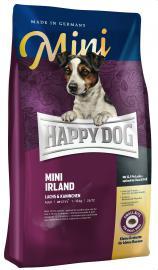 Happy Dog MINI Irland nyúlhúsos és lazachúsos száraz eledel táplálék allergiás, kistestű, felnőtt, válogatós kutyáknak