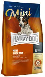 Happy Dog MINI Toscana kacsa-lazac-tojásmultiprotein tartalmú száraz eledel táplálék allergiás, kistestű, felnőtt, válogatós kutyáknak