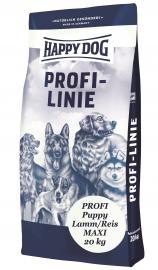HAPPY DOG PROFI PUPPY MAXI Lamb & Rice Chicken-free száraz kutyaeledel bárányhússal és rizzsel, nagytestű érzékeny kölyök kutyáknak