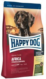 HAPPY DOG Supreme Africa strucchúsos, gabonamentes és gluténmentes száraz eledel táplálék-allergiás, és válogatós kutyáknak