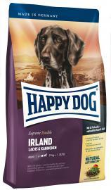 HAPPY DOG Supreme Irland lazac-, és nyúlhúsos gluténmentes száraz eledel táplálék-allergiás kutyáknak