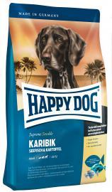 HAPPY DOG Supreme Karibik gabonamentes és gluténmentes száraz eledel tengeri hallal és burgonyával, felnőtt, válogatós, valamint táplálék-allergiás kutyáknak